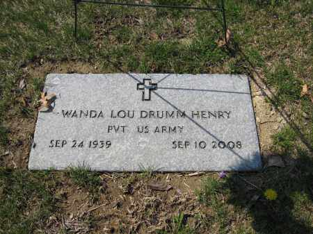 HENRY, WANDA LOU DRUMM - Union County, Ohio | WANDA LOU DRUMM HENRY - Ohio Gravestone Photos