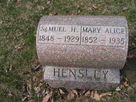 HENSLEY, SAMUEL H. - Union County, Ohio | SAMUEL H. HENSLEY - Ohio Gravestone Photos