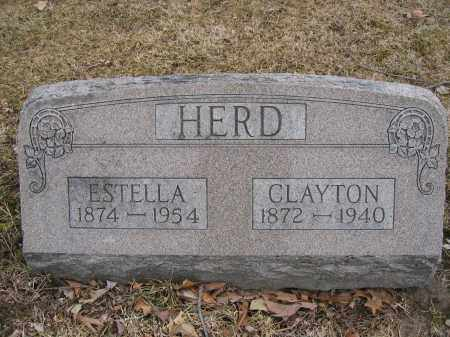 HERD, ESTELLA - Union County, Ohio | ESTELLA HERD - Ohio Gravestone Photos