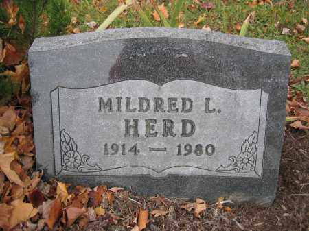 HERD, MILDRED L. - Union County, Ohio | MILDRED L. HERD - Ohio Gravestone Photos