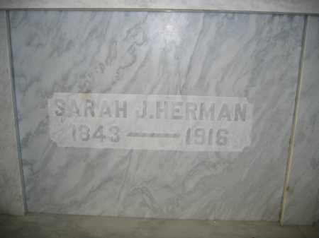HERMAN, SARAH J. - Union County, Ohio | SARAH J. HERMAN - Ohio Gravestone Photos
