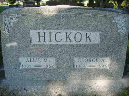 HICKOK, ALLIE M. - Union County, Ohio | ALLIE M. HICKOK - Ohio Gravestone Photos
