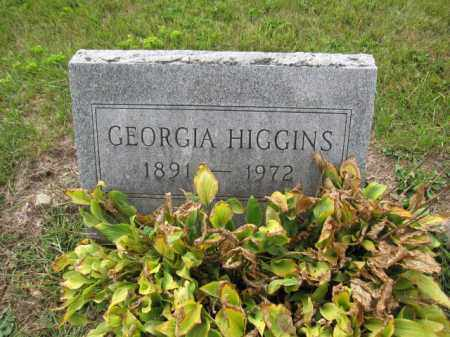 HIGGINS, GEORGIA - Union County, Ohio | GEORGIA HIGGINS - Ohio Gravestone Photos