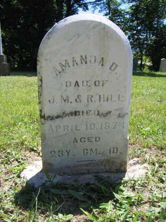 HILL, AMANDA D. - Union County, Ohio | AMANDA D. HILL - Ohio Gravestone Photos