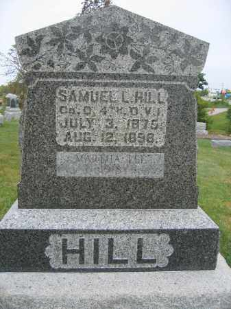 HILL, SAMUEL L. - Union County, Ohio | SAMUEL L. HILL - Ohio Gravestone Photos