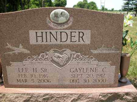 HINDER, SR., LEE H. - Union County, Ohio | LEE H. HINDER, SR. - Ohio Gravestone Photos