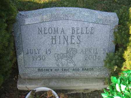 HINES, NEOMA BELLE - Union County, Ohio | NEOMA BELLE HINES - Ohio Gravestone Photos