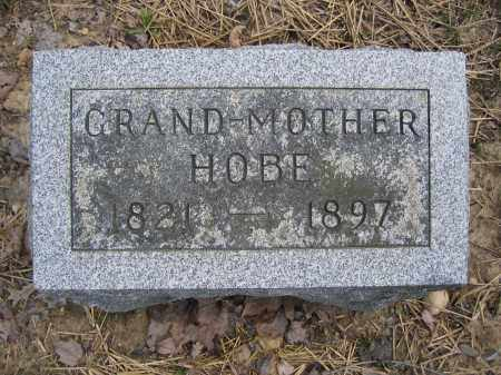 HOBE, GRAND-MOTHER - Union County, Ohio   GRAND-MOTHER HOBE - Ohio Gravestone Photos