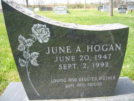 HOGAN, JUNE A - Union County, Ohio | JUNE A HOGAN - Ohio Gravestone Photos