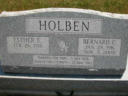 HOLBEN, ESTHER E. - Union County, Ohio | ESTHER E. HOLBEN - Ohio Gravestone Photos