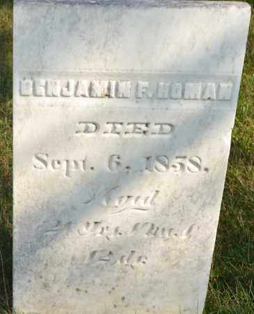 HOMAN, BENJAMIN F. - Union County, Ohio | BENJAMIN F. HOMAN - Ohio Gravestone Photos