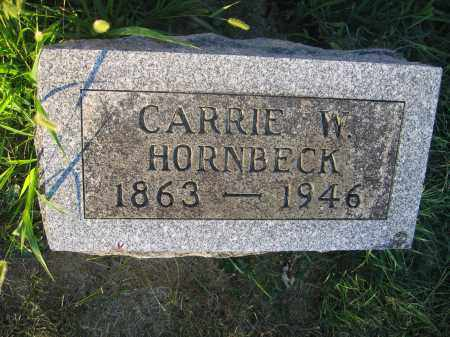 HORNBECK, CARRIE W. - Union County, Ohio | CARRIE W. HORNBECK - Ohio Gravestone Photos