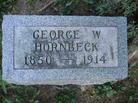 HORNBECK, GEORGE W. - Union County, Ohio | GEORGE W. HORNBECK - Ohio Gravestone Photos