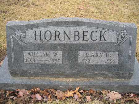HORNBECK, WILLIAM W. - Union County, Ohio | WILLIAM W. HORNBECK - Ohio Gravestone Photos