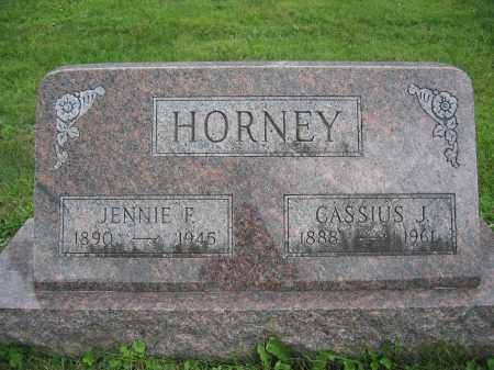 HORNEY, JENNIE F. - Union County, Ohio | JENNIE F. HORNEY - Ohio Gravestone Photos