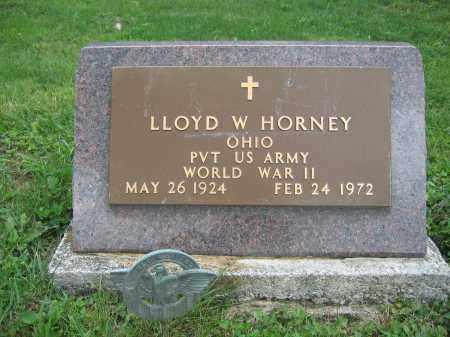 HORNEY, LLOYD W. - Union County, Ohio | LLOYD W. HORNEY - Ohio Gravestone Photos