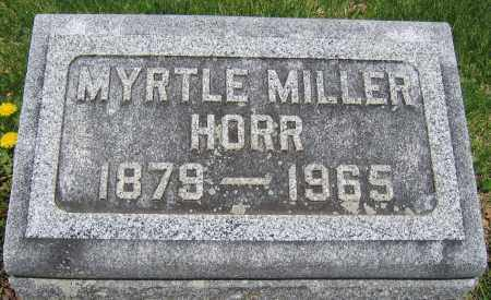 HORR, MYRTLE MILLER - Union County, Ohio | MYRTLE MILLER HORR - Ohio Gravestone Photos