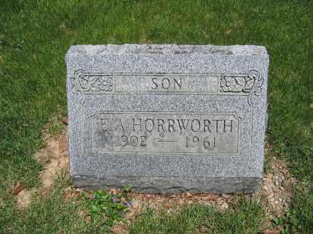 HORRWORTH, E.A. - Union County, Ohio | E.A. HORRWORTH - Ohio Gravestone Photos