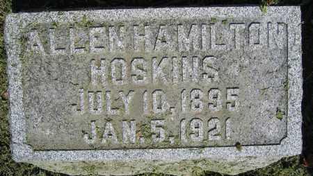 HOSKINS, ALLEN HAMILTON - Union County, Ohio | ALLEN HAMILTON HOSKINS - Ohio Gravestone Photos
