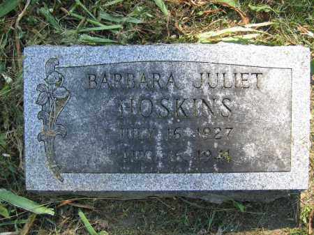 HOSKINS, BARBARA JULIET - Union County, Ohio | BARBARA JULIET HOSKINS - Ohio Gravestone Photos
