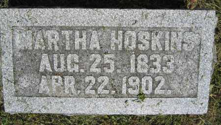 HOSKINS, MARTHA - Union County, Ohio | MARTHA HOSKINS - Ohio Gravestone Photos