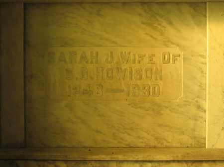 HOWISON, SARAH J. - Union County, Ohio | SARAH J. HOWISON - Ohio Gravestone Photos