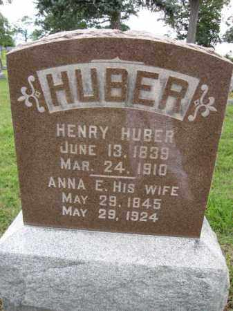 HUBER, ANNA E. - Union County, Ohio | ANNA E. HUBER - Ohio Gravestone Photos