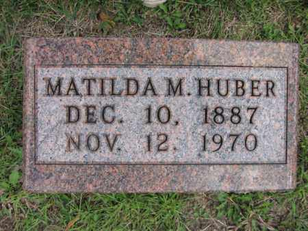 HUBER, MATILDA M. - Union County, Ohio | MATILDA M. HUBER - Ohio Gravestone Photos