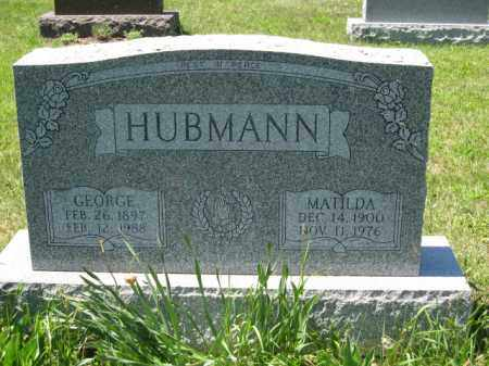 HUBMANN, GEORGE - Union County, Ohio | GEORGE HUBMANN - Ohio Gravestone Photos