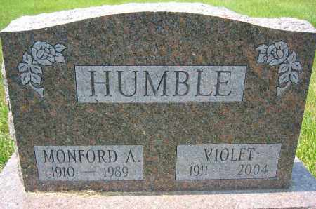 HUMBLE, VIOLET - Union County, Ohio | VIOLET HUMBLE - Ohio Gravestone Photos