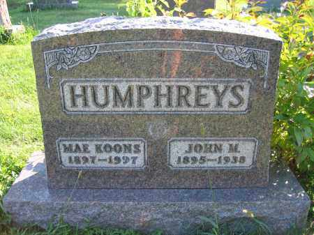 HUMPHREYS, MAE KOONS - Union County, Ohio | MAE KOONS HUMPHREYS - Ohio Gravestone Photos