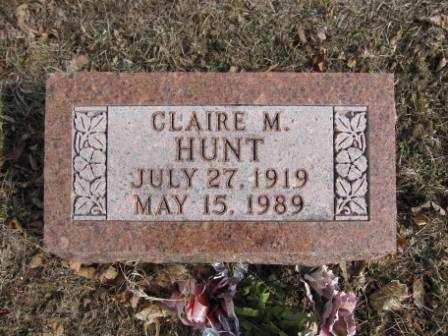 HUNT, CLAIRE M. - Union County, Ohio | CLAIRE M. HUNT - Ohio Gravestone Photos