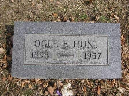 HUNT, OGLE E, - Union County, Ohio | OGLE E, HUNT - Ohio Gravestone Photos