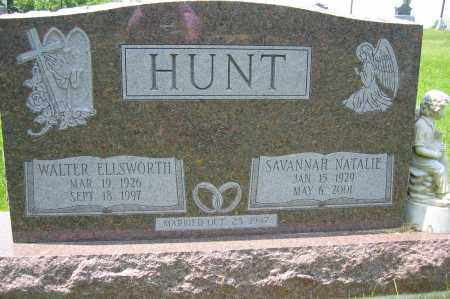 HUNT, WALTER ELLSWORTH - Union County, Ohio | WALTER ELLSWORTH HUNT - Ohio Gravestone Photos