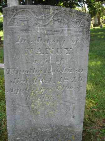 HUTCHINSON, NANCY - Union County, Ohio | NANCY HUTCHINSON - Ohio Gravestone Photos