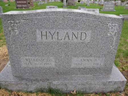 HYLAND, WILLIAM D. - Union County, Ohio | WILLIAM D. HYLAND - Ohio Gravestone Photos