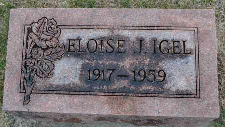IGEL, ELOISE J. - Union County, Ohio | ELOISE J. IGEL - Ohio Gravestone Photos