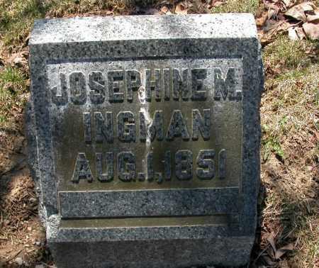 INGMAN, JOSEPHINE M. - Union County, Ohio | JOSEPHINE M. INGMAN - Ohio Gravestone Photos