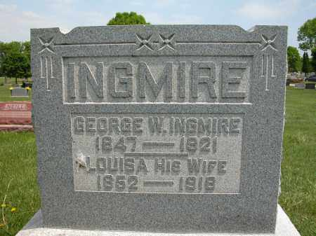 INGMIRE, LOUISA - Union County, Ohio | LOUISA INGMIRE - Ohio Gravestone Photos