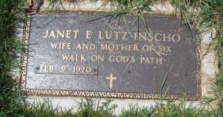 INSCHO, JANET E. LUTZ - Union County, Ohio | JANET E. LUTZ INSCHO - Ohio Gravestone Photos