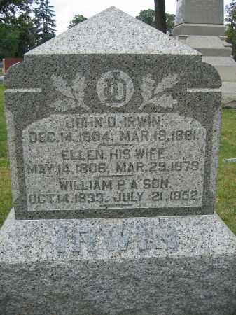 IRWIN, ELLEN - Union County, Ohio | ELLEN IRWIN - Ohio Gravestone Photos