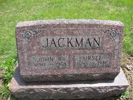 JACKMAN, URSEL - Union County, Ohio | URSEL JACKMAN - Ohio Gravestone Photos