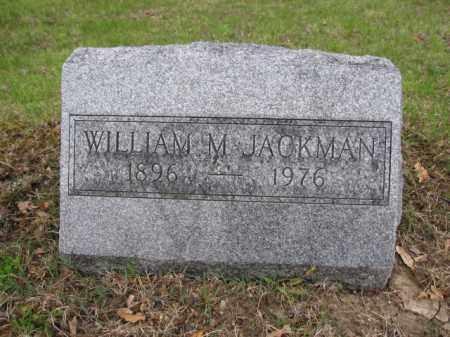 JACKMAN, WILLIAM M. - Union County, Ohio | WILLIAM M. JACKMAN - Ohio Gravestone Photos