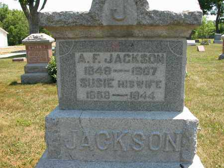 JACKSON, A.F. - Union County, Ohio | A.F. JACKSON - Ohio Gravestone Photos