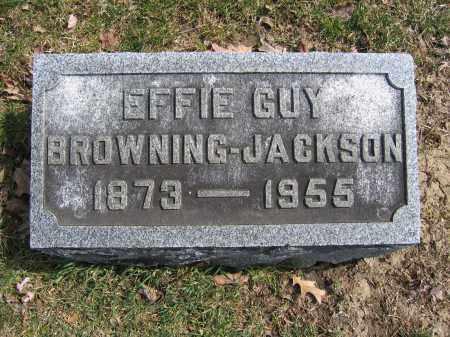 JACKSON, EFFIE GUY BROWNING - Union County, Ohio | EFFIE GUY BROWNING JACKSON - Ohio Gravestone Photos