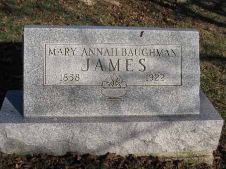 JAMES, MARY ANN BAUGHMAN - Union County, Ohio | MARY ANN BAUGHMAN JAMES - Ohio Gravestone Photos
