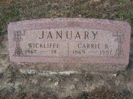 JANUARY, WICKLIFF E. - Union County, Ohio | WICKLIFF E. JANUARY - Ohio Gravestone Photos