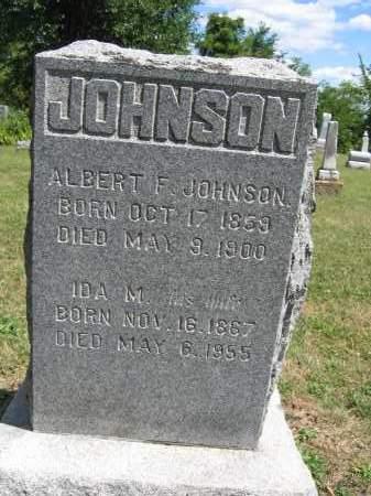 JOHNSON, ALBERT F. - Union County, Ohio | ALBERT F. JOHNSON - Ohio Gravestone Photos