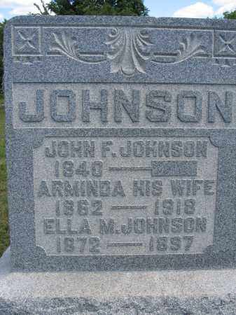 JOHNSON, JOHN F. - Union County, Ohio | JOHN F. JOHNSON - Ohio Gravestone Photos