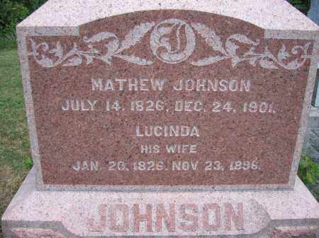 JOHNSON, LUCINDA - Union County, Ohio | LUCINDA JOHNSON - Ohio Gravestone Photos